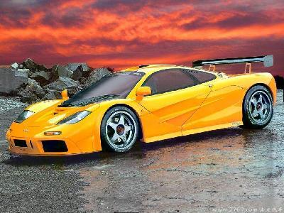 Mclaren yellow car pic